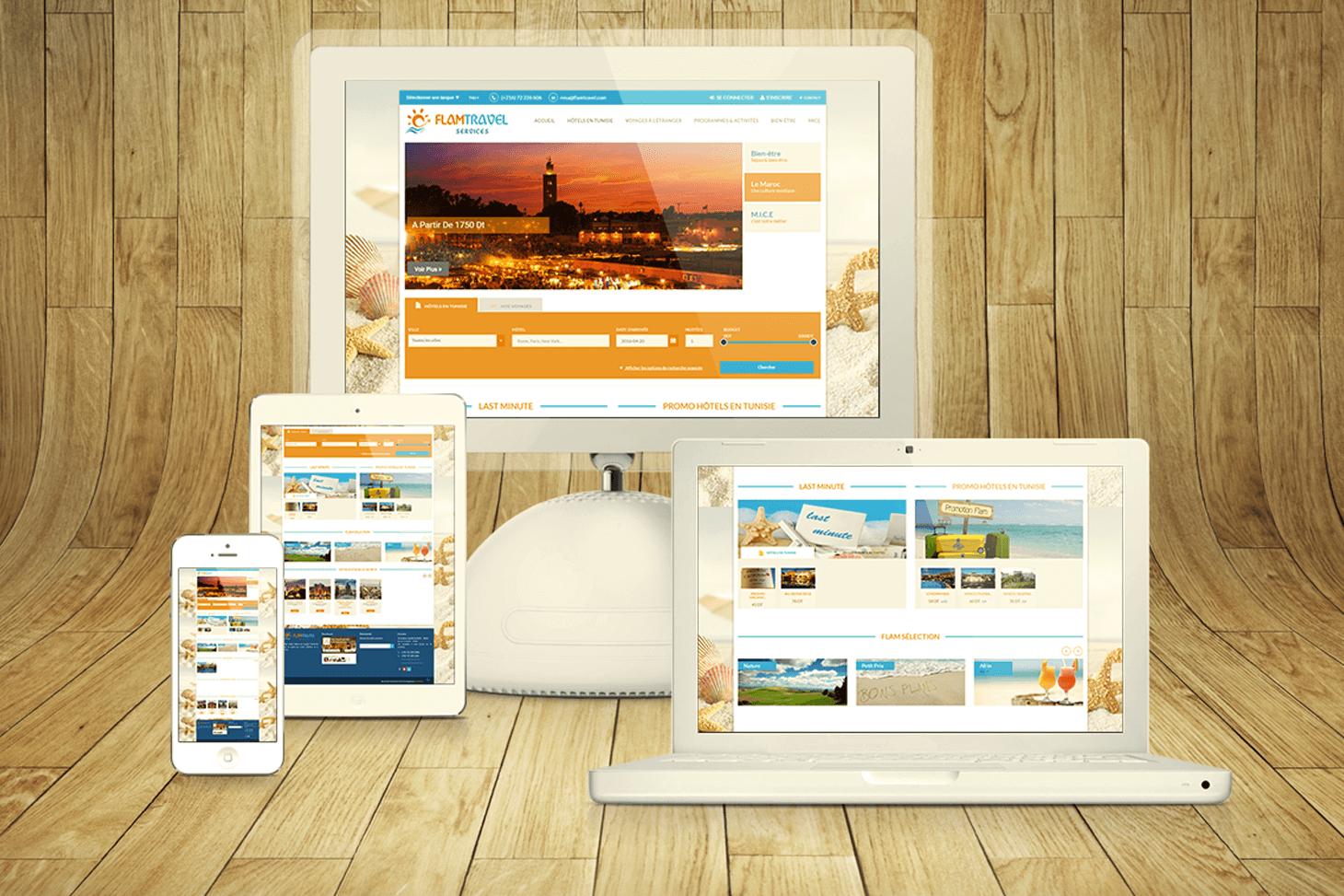 Site E-tourisme Flam travel services